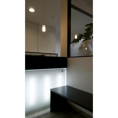 Thekenfront aus Plexiglas mit LED hinterleuchtet